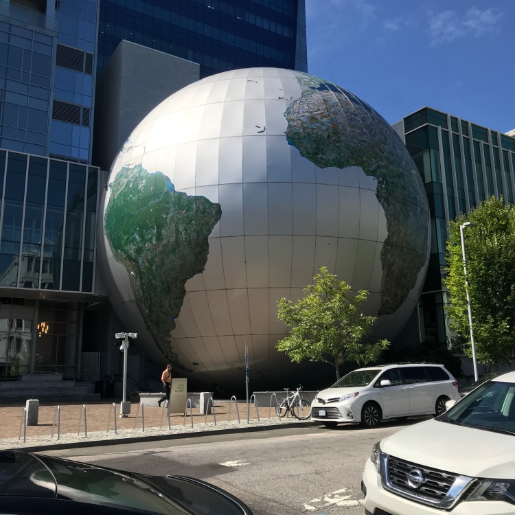 The Raleigh, NC Museum of Natural Sciences most notable feature: a giant globe.